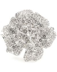 Alexander McQueen Silver Crystalembellished Cuff - Lyst