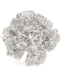 Alexander McQueen Silver Crystalembellished Cuff - Lyst