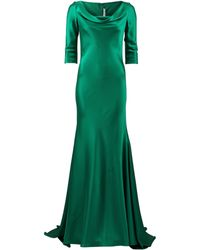 Naeem Khan Satin Gown - Lyst