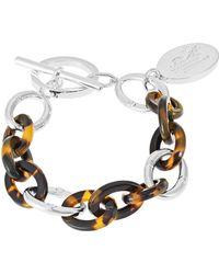 Lauren by Ralph Lauren - Chainlink Charm Bracelet - Lyst