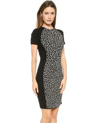 Tory Burch Gemma Dress Black Dotted Pony Jacquard - Lyst