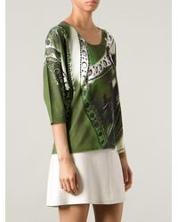 Mary Katrantzou Shoe Print Top - Lyst