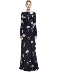 Nina Ricci Printed Silk Crepe Gown - Lyst