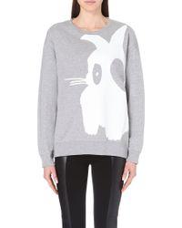 McQ by Alexander McQueen Bunny Cotton-Jersey Sweatshirt - For Women gray - Lyst