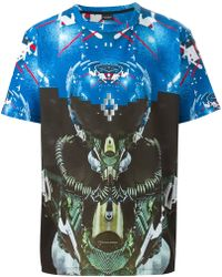 Marcelo Burlon Short Sleeve T-Shirt blue - Lyst