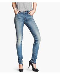 H&M Skinny Regular Jeans - Lyst