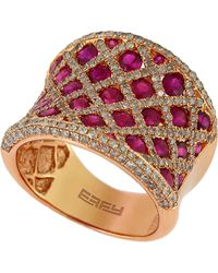 Effy - Diamond And Ruby 14K Rose Gold Ring, 1.19 Tcw - Lyst