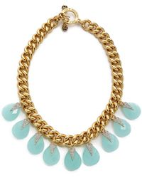 Juicy Couture - Large Stone Drama Necklace Gold - Lyst
