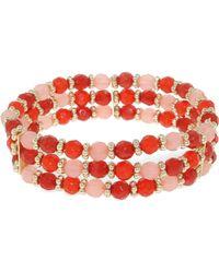 1928 - Tangerine Dreams Bead Triple Row Bracelet - Lyst