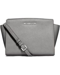 Michael by Michael Kors Selma Leather Medium Messenger Bag - Lyst