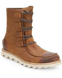 Sorel Mad Boot Lace Boots - Lyst