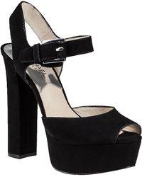 MICHAEL Michael Kors London Platform Sandal Black Suede - Lyst