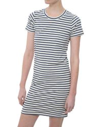 Monrow Stripe Dress - Lyst