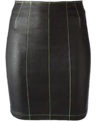 Alexander Wang Stitched Mini Skirt - Lyst