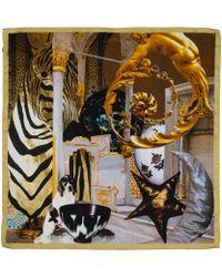 Maia Franceschi - Yellow Star and Moon Print Silk Scarf - Lyst