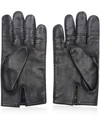 What Goes Around Comes Around Hermes Black Lambskin H-buckle Gloves - Lyst