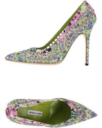 Manolo Blahnik Pump green - Lyst