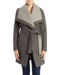 BCBGeneration Belted Envelope Collar Coat