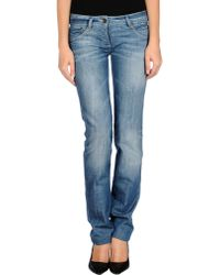 Patrizia Pepe Denim Pants - Lyst