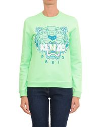 Kenzo Cotton Sweatshirt With Tiger Embroidery - Lyst