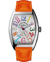 Franck Muller - Ladies Color Dreams Curvex Watch With Alligator Strap - Lyst