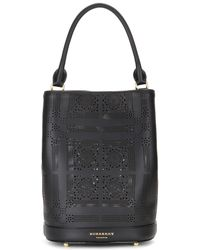 Burberry Prorsum - Perforated Leather Bucket Bag - Lyst