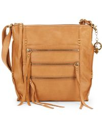 Lucky Brand - Shannon Leather Zip Crossbody Bag - Lyst
