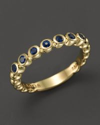 Lagos 18K Gold And Sapphire Stackable Ring - Lyst