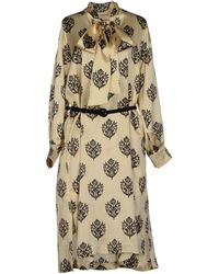 Celine Beige Kneelength Dress - Lyst