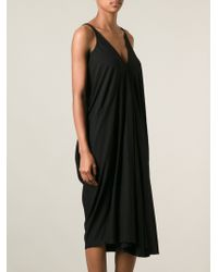 Rick Owens Draped Jersey Dress - Lyst