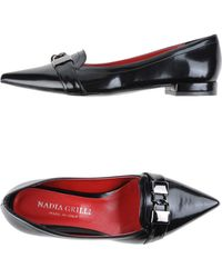 Nadia Grilli - Pointed-Toe Faux-Leather Moccasins - Lyst
