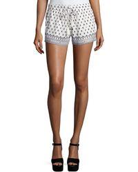 Soft Joie - Avia Floral-print Cotton Shorts - Lyst