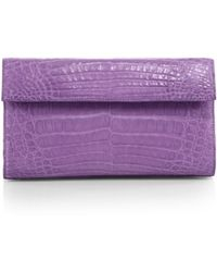 Nancy Gonzalez Small Crocodile Flap Clutch - Lyst