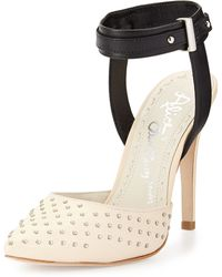 Alice + Olivia Dayla Two-Tone Studded Pump - Lyst