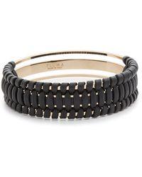 Pluma - Small Woven Leather Bangle Bracelet - Lyst