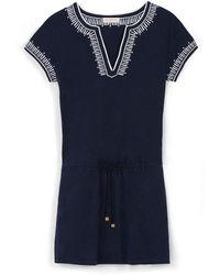 Tory Burch Linen Jersey Dress - Lyst