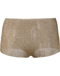 Yohji Yamamoto - Mini Metallic Shorts - Lyst