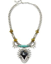 Dannijo Arley Crystal Necklace with Turquoise - Lyst