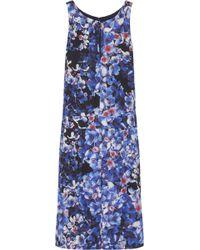 J.Crew - Collection Blackwell Floral-Print Silk Dress - Lyst