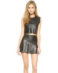 Love Leather - The Candy Crop Top - Black - Lyst