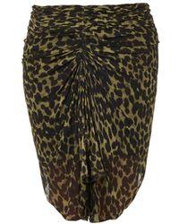 Etoile Isabel Marant Coleen Animalprint Ruched Skirt - Lyst