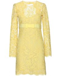 Emilio Pucci Yellow Lace Dress - Lyst