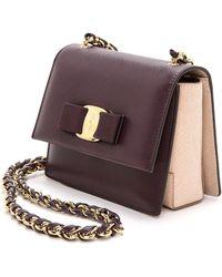 Ferragamo Ginny Cross Body Bag  Plum - Lyst