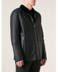 Giorgio Armani Classic Leather Jacket - Lyst