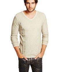 Guess Ken Slub Waffle Knit T Shirt - Lyst