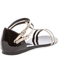 Steven Keliina Sandal in Metallic Gold - Lyst