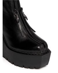 Opening Ceremony Luna Double Zip Leather Boots - Lyst
