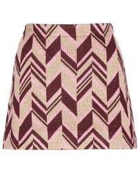 Miu Miu Wool Blend Skirt - Lyst