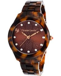 Christian Lacroix - Women's Tortoise Acetate Brown Patterned Dial - Lyst