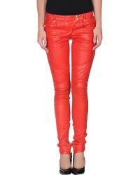 Balmain Leather Pants - Lyst
